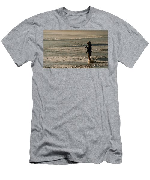 Men's T-Shirt (Slim Fit) featuring the photograph Fisherman by Steve Karol