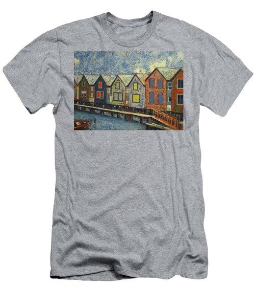 Fishermen Huts Men's T-Shirt (Slim Fit) by Walter Casaravilla