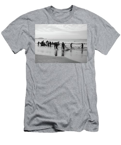 Fishermen In Florianopolis, Brazil Men's T-Shirt (Athletic Fit)