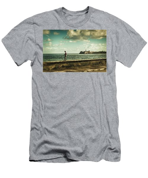 Fishing Along The Malecon Men's T-Shirt (Athletic Fit)