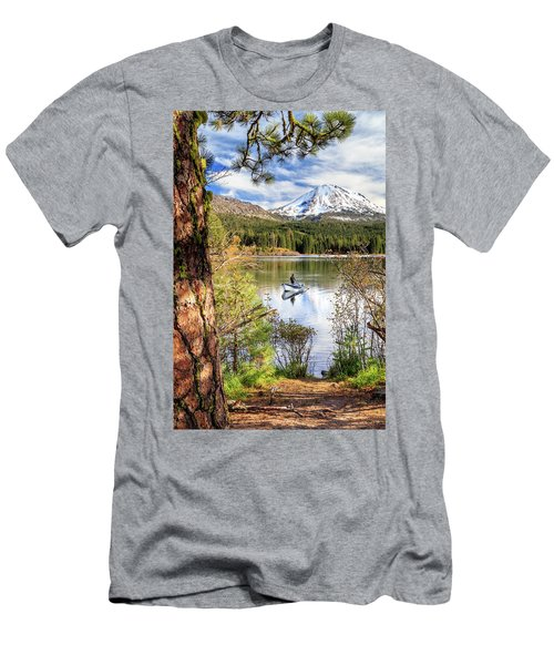 Fishing In Manzanita Lake Men's T-Shirt (Slim Fit) by James Eddy