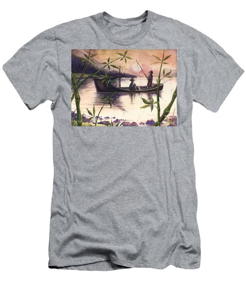 Fishing In The Sunset   Men's T-Shirt (Athletic Fit)