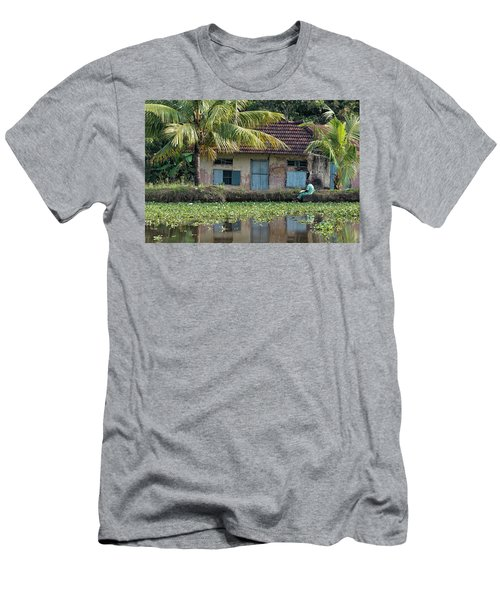 Fishing Men's T-Shirt (Slim Fit) by Marion Galt