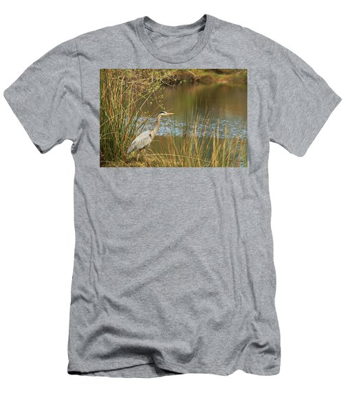 Men's T-Shirt (Slim Fit) featuring the photograph Fishing Oceano Lagoon by Art Block Collections
