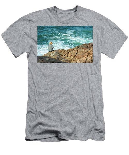 Fishing On Mutton Bird Island Men's T-Shirt (Athletic Fit)