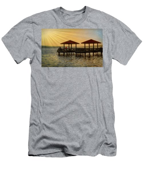 Fishing Pier Men's T-Shirt (Athletic Fit)