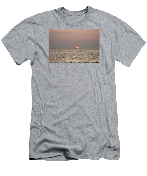 Men's T-Shirt (Slim Fit) featuring the photograph Fishing Trawler Sunrise by Robert Banach