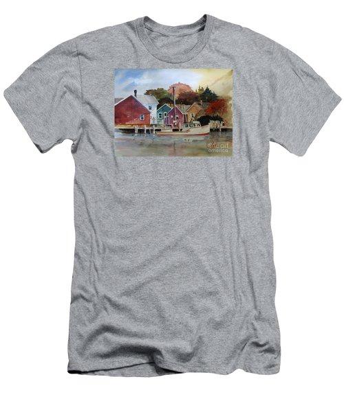 Fishing Village Men's T-Shirt (Athletic Fit)