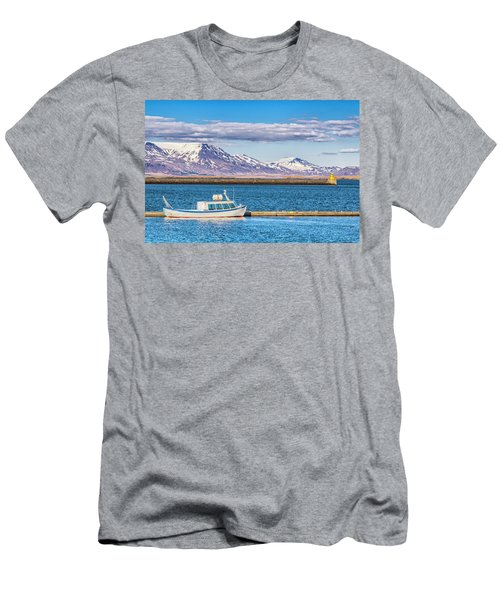 Fishing Men's T-Shirt (Slim Fit) by Wade Courtney