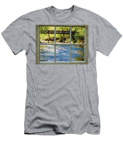 Fishing Window Men's T-Shirt (Athletic Fit)