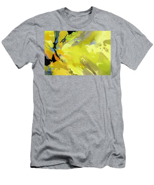 Men's T-Shirt (Slim Fit) featuring the painting Fissures Of Time by Rae Andrews