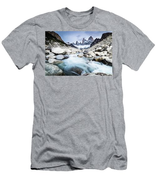 Fitz Roy On A Cloudy Day  Men's T-Shirt (Athletic Fit)