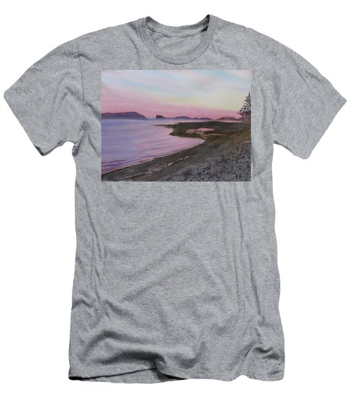 Men's T-Shirt (Athletic Fit) featuring the painting Five Islands - Bay Of Fundy by Joel Deutsch