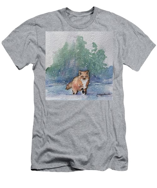 Fox In Snow Men's T-Shirt (Athletic Fit)