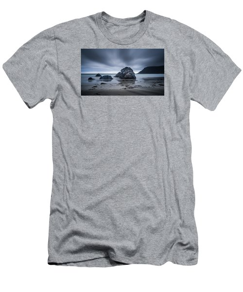Men's T-Shirt (Athletic Fit) featuring the photograph Flakstad Beach by James Billings