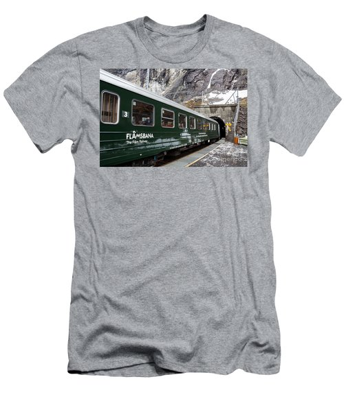 Flam Railway Men's T-Shirt (Slim Fit) by Suzanne Luft