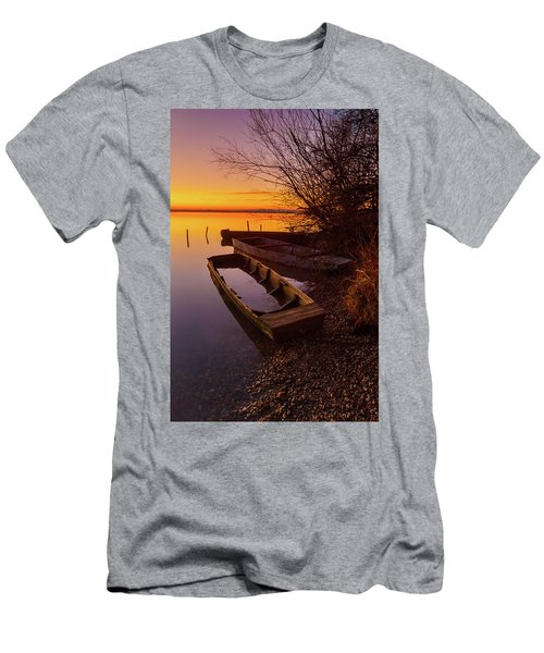 Men's T-Shirt (Athletic Fit) featuring the photograph Flame Of Dawn by Davor Zerjav
