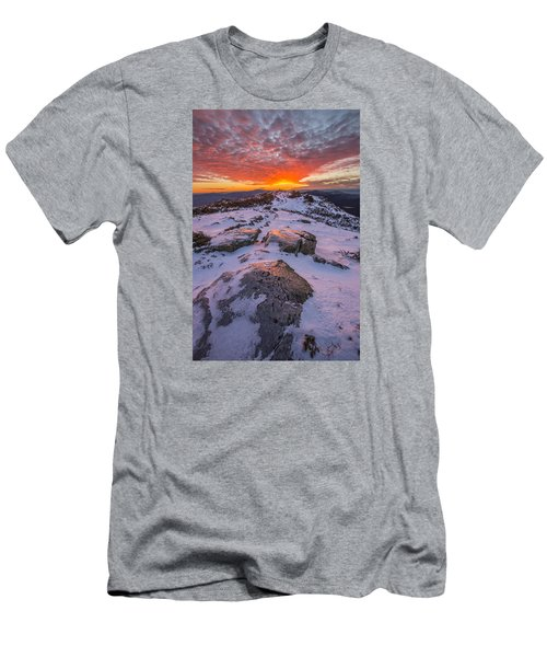 Flames Over Haystack Men's T-Shirt (Athletic Fit)