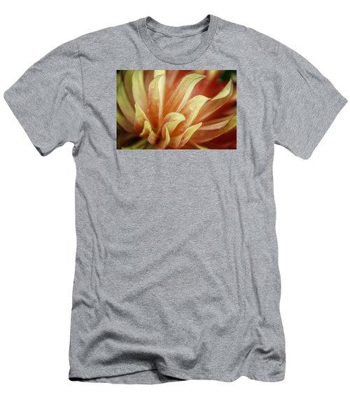 Flaming Dahlia Men's T-Shirt (Slim Fit)