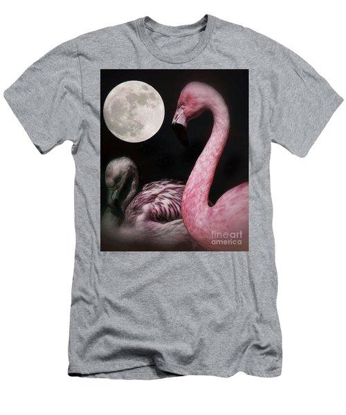 Flamingo Moon  Men's T-Shirt (Athletic Fit)