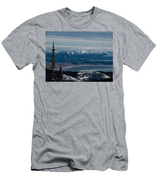 Flathead Valley In The Winter Men's T-Shirt (Athletic Fit)