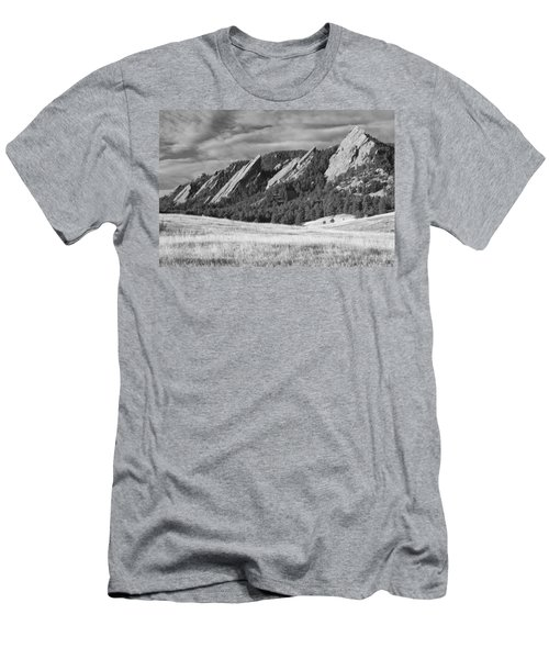 Flatiron Morning Light Boulder Colorado Bw Men's T-Shirt (Athletic Fit)