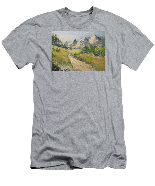 Flatirons In The Rockies Men's T-Shirt (Athletic Fit)