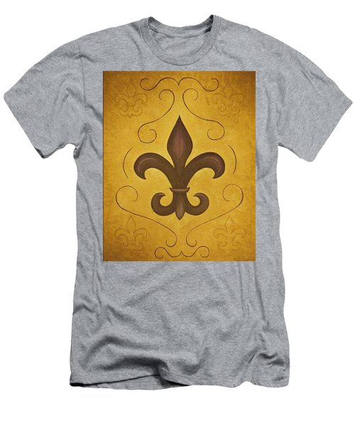 Fleur De Lis II Men's T-Shirt (Athletic Fit)