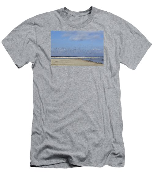 Men's T-Shirt (Slim Fit) featuring the photograph Flight by Tammy Schneider
