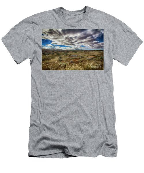 Flinders Ranges Fields  Men's T-Shirt (Slim Fit) by Douglas Barnard
