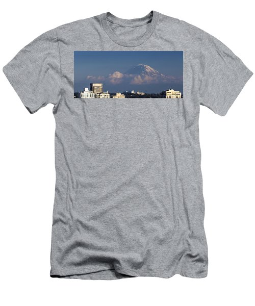 Floating Mountain Men's T-Shirt (Slim Fit) by Ed Clark