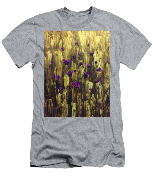 Floating Royal Roses 1 Men's T-Shirt (Athletic Fit)