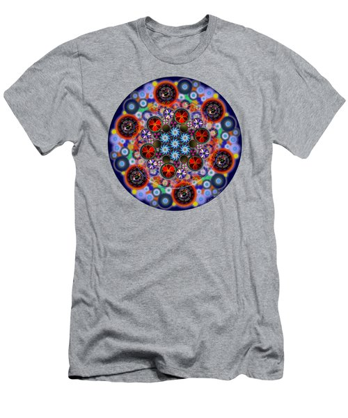 Flora Viscera Mandala Men's T-Shirt (Slim Fit) by Iowan Stone-Flowers