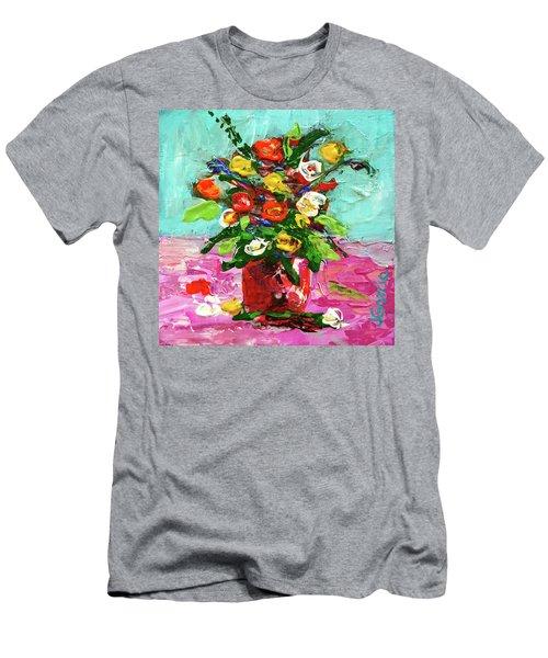 Floral Arrangement Men's T-Shirt (Slim Fit) by Janet Garcia