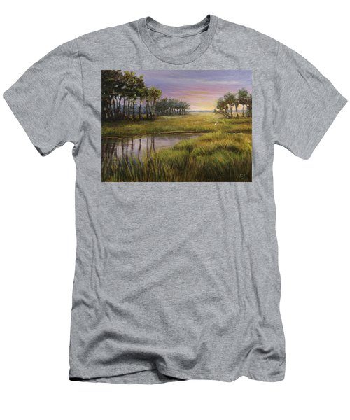 Florida Marsh Sunset Men's T-Shirt (Athletic Fit)