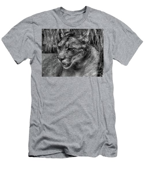Men's T-Shirt (Slim Fit) featuring the photograph Florida Panther by Myrna Bradshaw