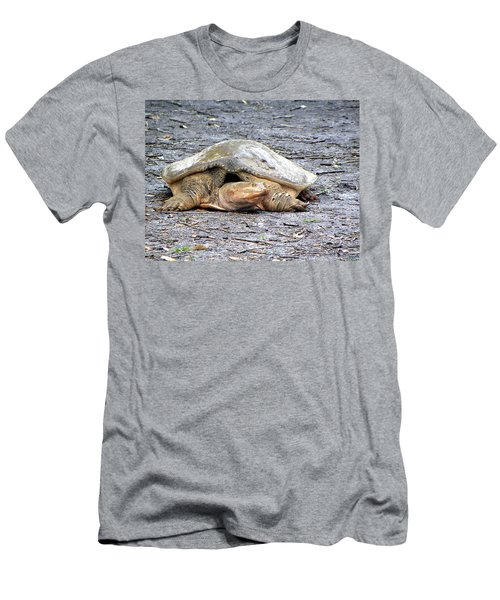 Men's T-Shirt (Slim Fit) featuring the photograph Florida Softshell Turtle 001 by Chris Mercer
