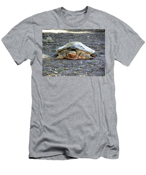 Men's T-Shirt (Slim Fit) featuring the photograph Florida Softshell Turtle 002 by Chris Mercer