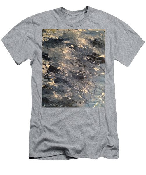Men's T-Shirt (Athletic Fit) featuring the painting Flow by Denise Tomasura