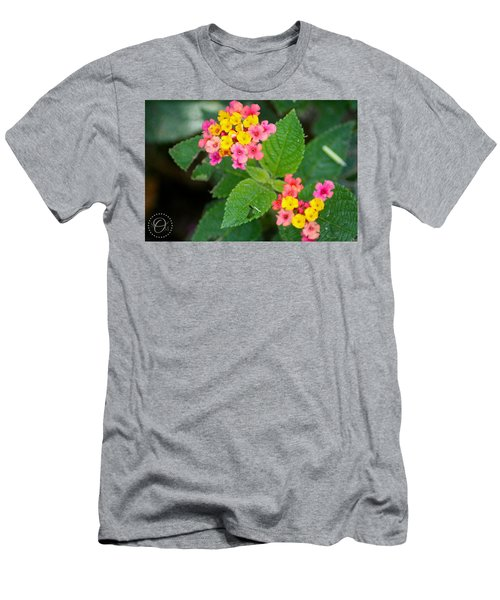 Flower Bloom Men's T-Shirt (Slim Fit) by Shelley Overton