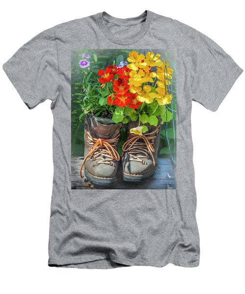 Flower Boots Men's T-Shirt (Athletic Fit)
