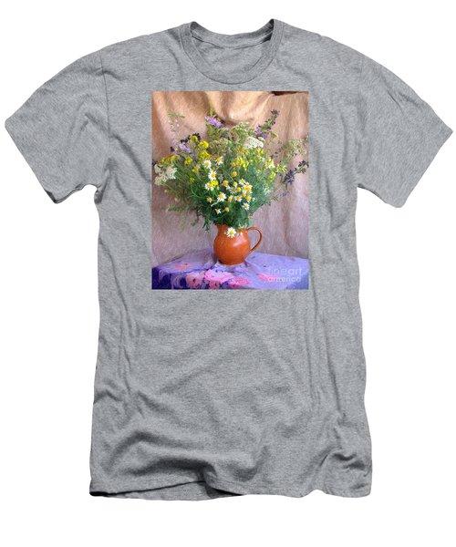 Flower Bouquet Men's T-Shirt (Athletic Fit)