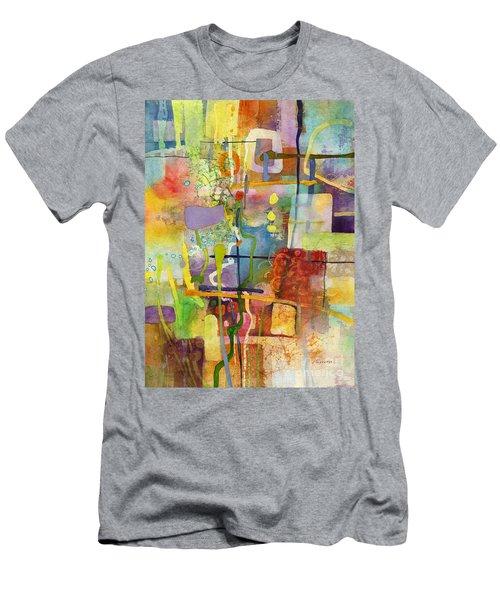 Flower Dance Men's T-Shirt (Slim Fit) by Hailey E Herrera