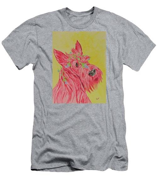 Flower Dog 6 Men's T-Shirt (Athletic Fit)