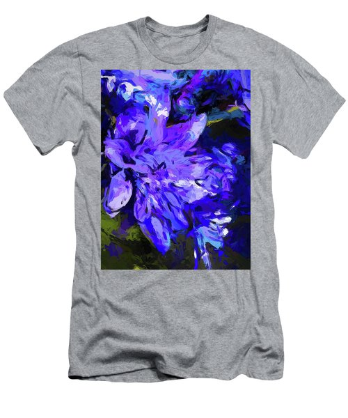 Flower Lavender Lilac Cobalt Blue Men's T-Shirt (Athletic Fit)
