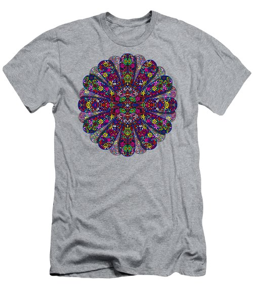 Flower Power Doodle Art Men's T-Shirt (Athletic Fit)