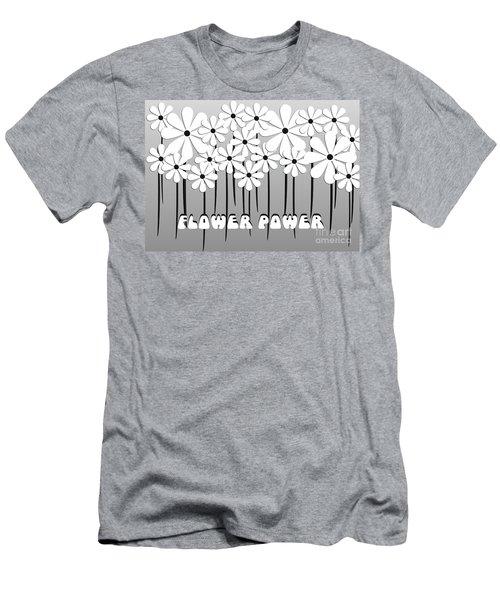 Flower Power - White  Men's T-Shirt (Athletic Fit)