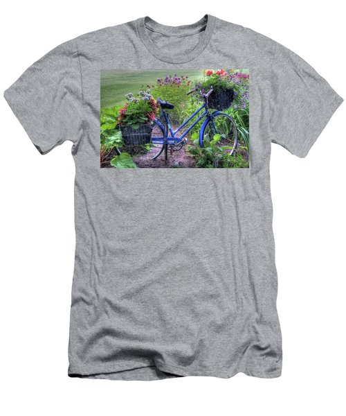 Flowered Bicycle Men's T-Shirt (Athletic Fit)