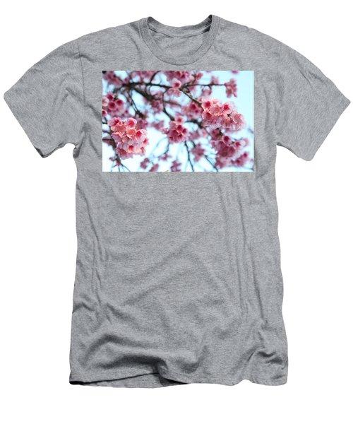 flowering of the almond tree, Jerusalem Men's T-Shirt (Slim Fit) by Yoel Koskas