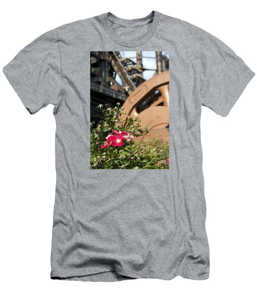 Flowers And Steel Men's T-Shirt (Slim Fit) by Michael Dorn